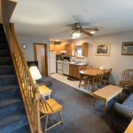 1,100 square foot townhouse - Kitchen and dining area