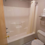 2,000 sq. ft. townhouse with 4 bedrooms - Guest bathroom shower