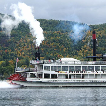 Photo of steamboat on the water